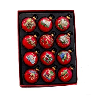 Kurt Adler 65mm 12 Days of Christmas Decorative Glass Balls (12-piece Set)|https://ak1.ostkcdn.com/images/products/9549580/P16730391.jpg?impolicy=medium