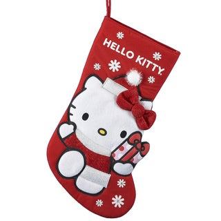 Kurt Adler 18.5-inch Hello Kitty Applique Stocking
