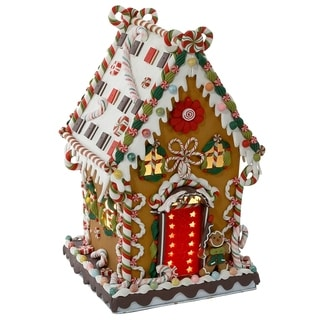 Kurt Adler 13.25-inch Cookie/Candy House with C7 Lights