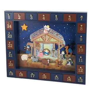 Kurt Adler 16.75-inch 25-piece Nativity Advent Calendar