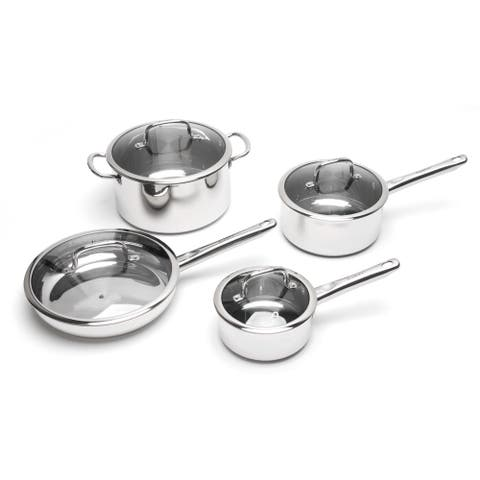 Boreal Stainless Steel 8-piece Cookware Set