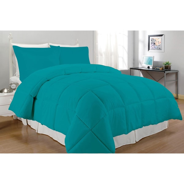 Microfiber Down Alternative 3-piece Comforter Set