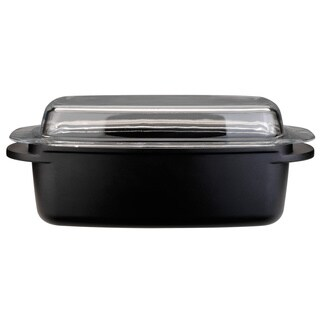Cook n Co 12.5-inch Cast Covered Roasting Pan