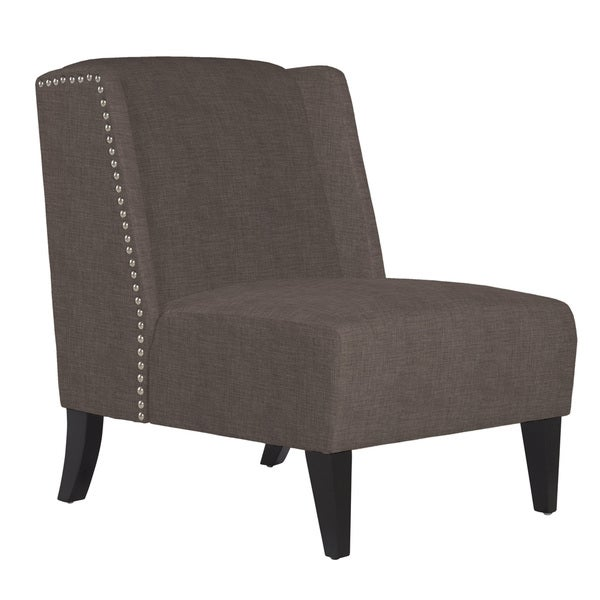 Charmant Handy Living Barton Smoke Gray Sand Armless Wingback Chair
