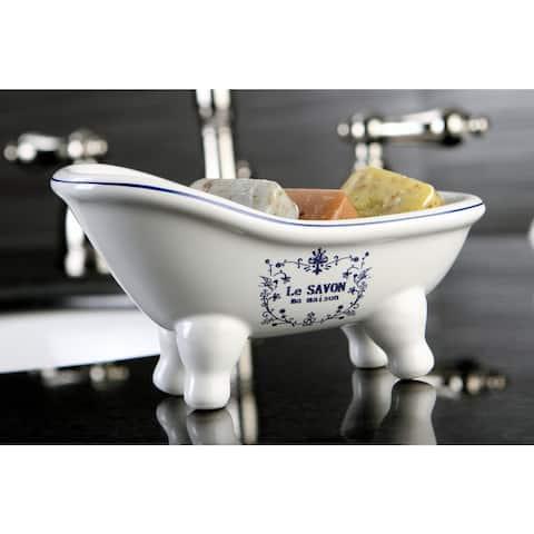 Le Savon Slipper Clawfoot Tub Soap Dish - Blue/White