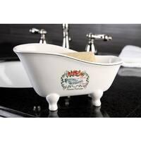 Savons Aux Fleurs Slipper Clawfoot Tub Soap Dish