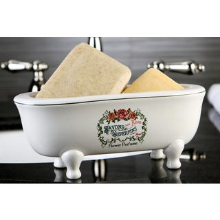 Savons Aux Fleurs Double Ended Clawfoot Tub Soap Dish