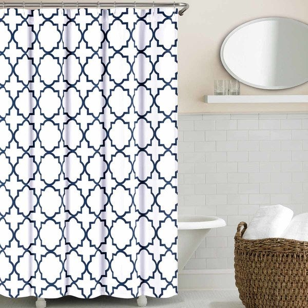 Echelon Home Quatrefoil Shower Curtain