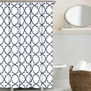 Echelon Home Quatrefoil Shower Curtain (2 options available)