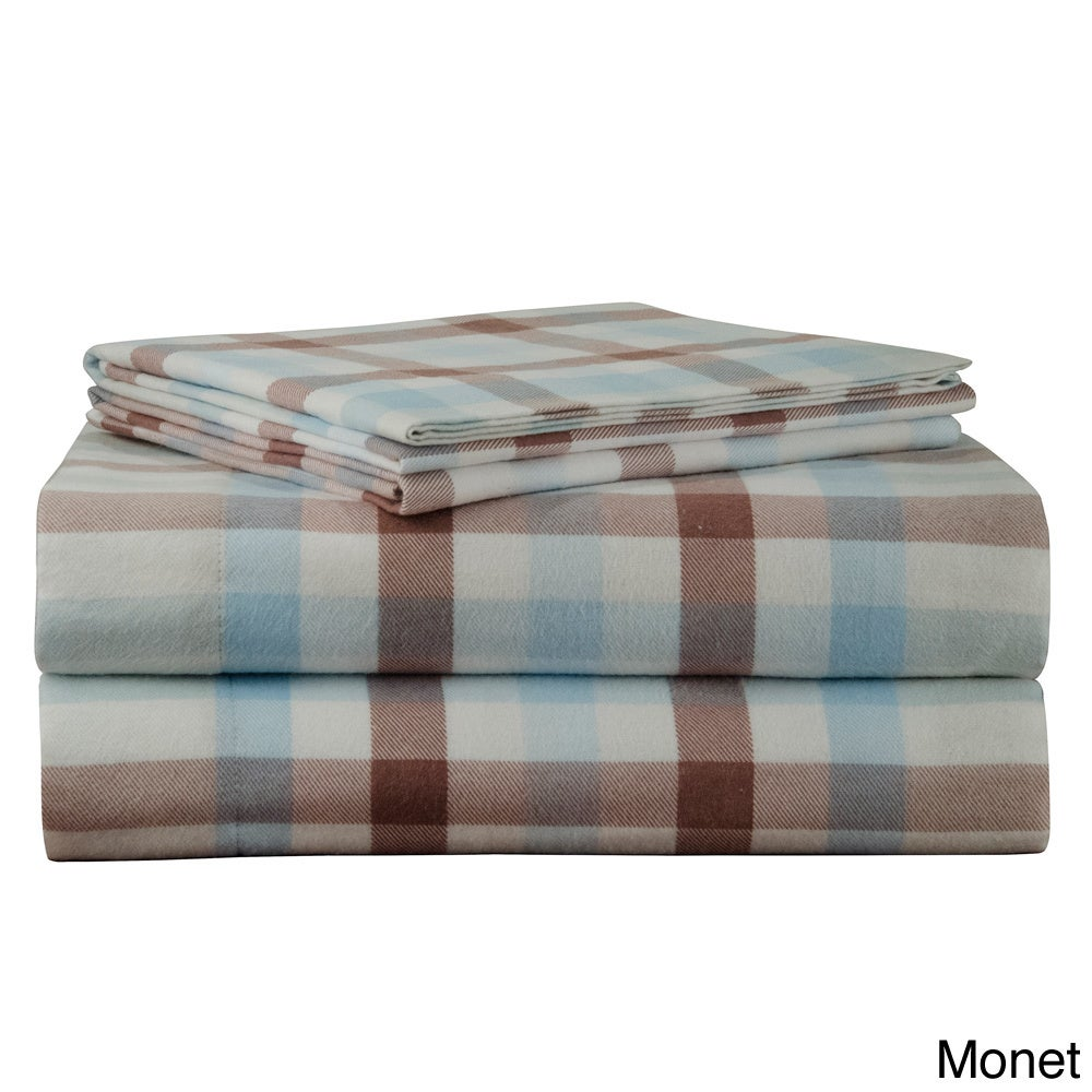 170 Gsm Heavy Weight Printed Deep Pocket Flannel Bed Sheet Set Overstock 9549738