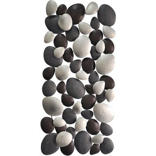 Aurelle Home Iron Rock Circles Wall Decor