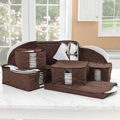 Richards Homewares Tabletop Microfiber 8-piece Dinnerware Storage Set