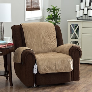 Shop Serta Heated Warming Chair Protector   On Sale   Free