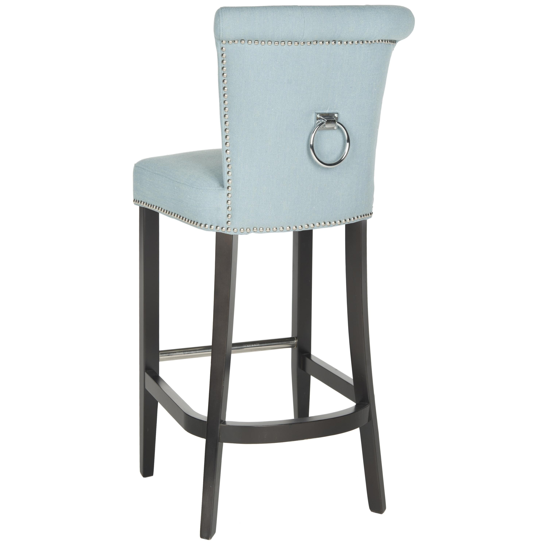 Astounding Safavieh Addo Sky Blue 30 Inch Bar Stool 19 6 X 24 2 X 43 7 Lamtechconsult Wood Chair Design Ideas Lamtechconsultcom