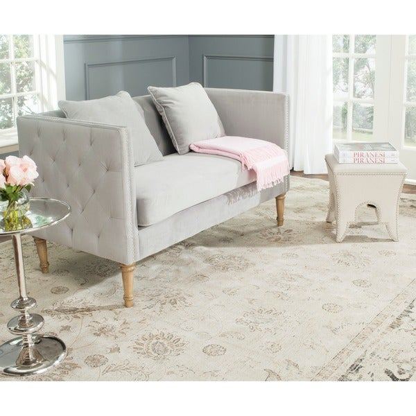 by front settees furniture settee safavieh tufted loveseat loveseats