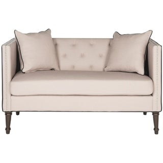 Safavieh Sarah Taupe/ Black Tufted Settee