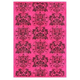 Handmade Alliyah Tufted Strawberry Pink Blended Wool Rug (8' x 10')