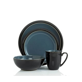 Denby Duets Black & Blue 4-piece Place Setting