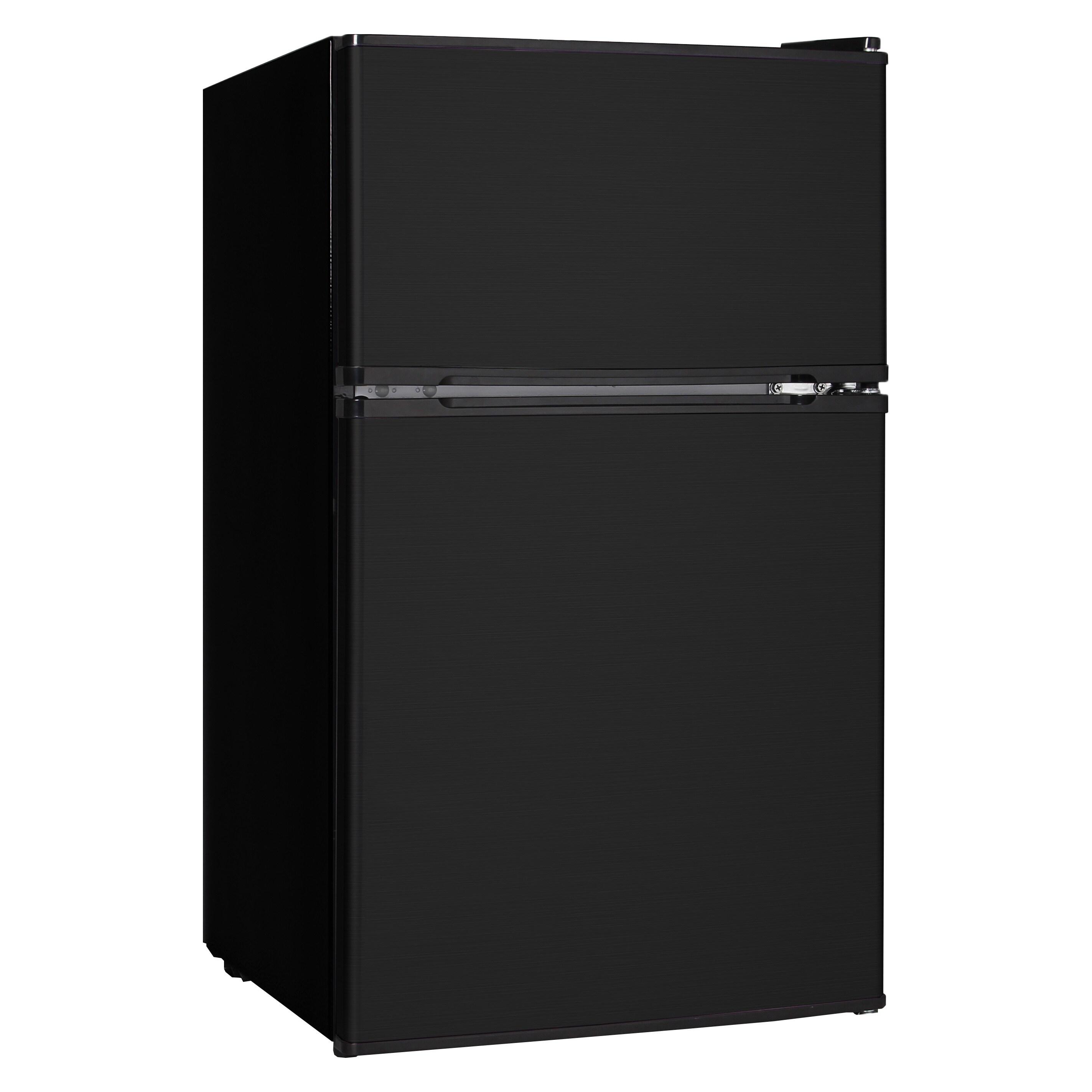 Midea 3.1 Cubic Feet Refrigerator Black (Metal)