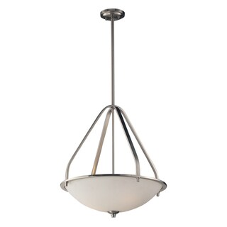 Elk Lighting Mayfield 3-light Brushed Nickel Pendant