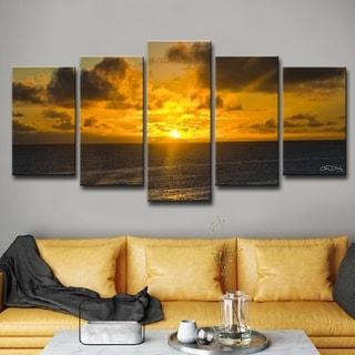 Ready2hangart Chris Doherty 'Niue Sunset' 5-piece Canvas Wall Art