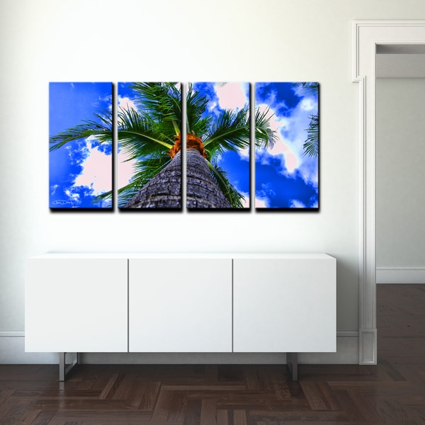 ready2hangart chris doherty 39 palms iii 39 4 piece canvas. Black Bedroom Furniture Sets. Home Design Ideas