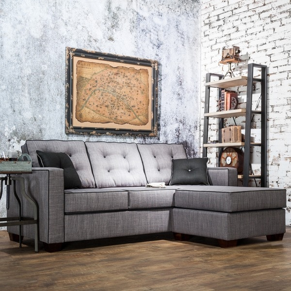 Furniture of America Lennons Urban Fabric Upholstered Sectional