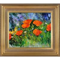 Pol Ledent 'Poppies 97' Framed Fine Art Print