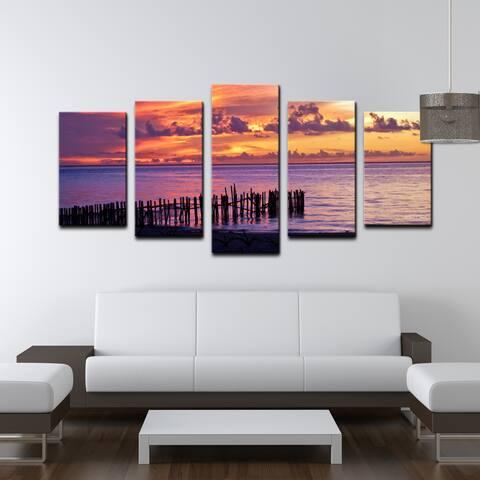 Chris Doherty 'Mex Sunset II' 5-piece Canvas Wall Art