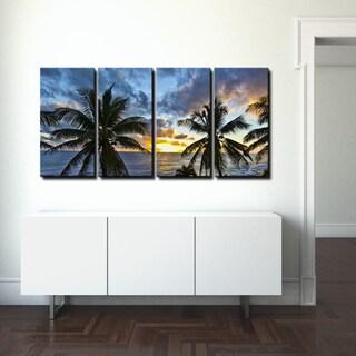 Ready2hangart Chris Doherty 'Niue Sunset III' 4-piece Canvas Wall Art