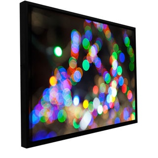 Cody York 'Bokeh 1' Floater-framed Gallery-wrapped Canvas