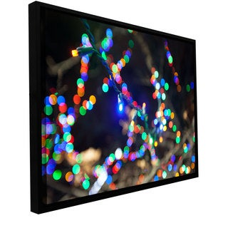 Cody York 'Bokeh 3' Floater-framed Gallery-wrapped Canvas