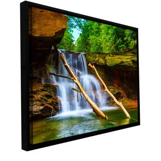 Cody York 'Brecksville Falls' Floater-framed Gallery-wrapped Canvas