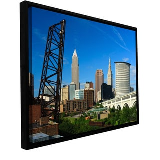 Cody York 'Cleveland 13' Floater-framed Gallery-wrapped Canvas