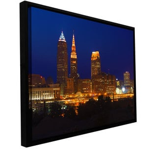 Cody York 'Cleveland 15' Floater-framed Gallery-wrapped Canvas
