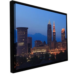 Cody York 'Cleveland 17' Floater-framed Gallery-wrapped Canvas