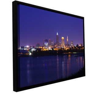 Cody York 'Cleveland 18' Floater-framed Gallery-wrapped Canvas