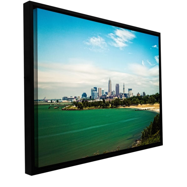 Cody York 'Cleveland 22' Floater-framed Gallery-wrapped Canvas