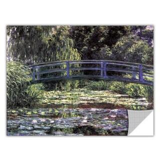 Claude Monet 'Bridge at Sea Rose Pond' Removable Wall Art