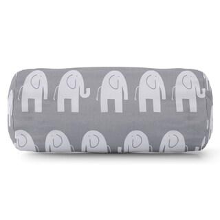 Ellie Elephant Pattern Round Bolster Pillow