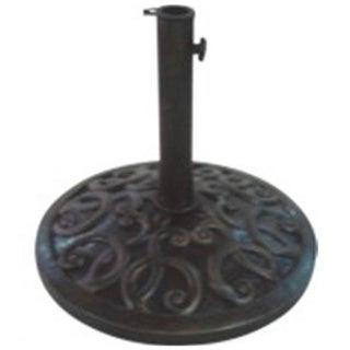 24-inch Cast Stone Bronze Umbrella Base