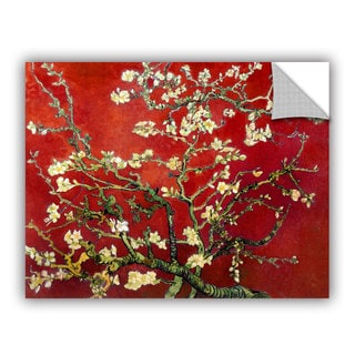 Vincent van Gogh 'Interpretation in Red Almond Blossom' Removable Wall Art
