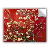 Vincent van Gogh 'Interpretation in Red Almond Blossom' Removable Wall Art