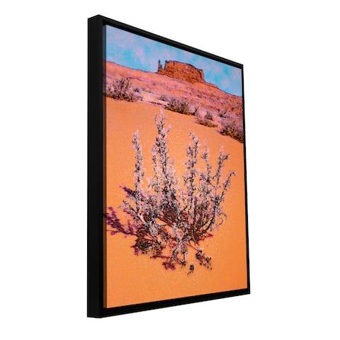 Dean Uhlinger 'After Desert Rain' Floater-framed Gallery-wrapped Canvas