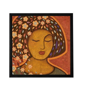 Gloria Rothrock 'Kali' Floater-framed Gallery-wrapped Canvas