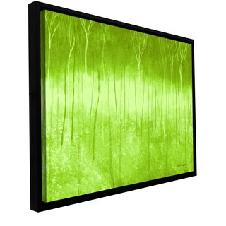Herb Dickinson 'Verda Forest 2' Floater-framed Gallery-wrapped Canvas