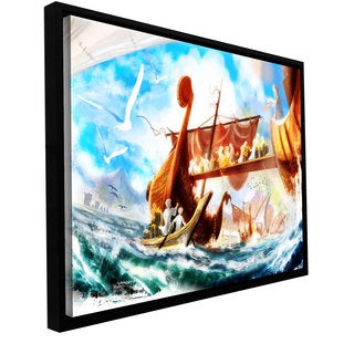 Luis Peres 'Old Times 4' Floater-framed Gallery-wrapped Canvas