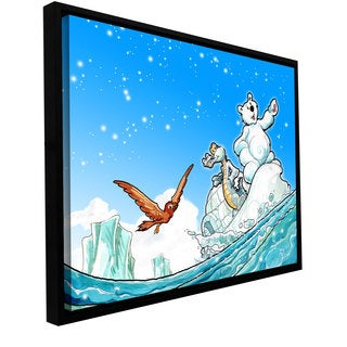 Luis Peres 'Polar 1' Floater-framed Gallery-wrapped Canvas