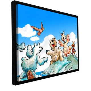 Luis Peres 'Polar 6' Floater-framed Gallery-wrapped Canvas
