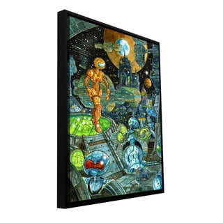 Luis Peres 'Robots' Floater-framed Gallery-wrapped Canvas
